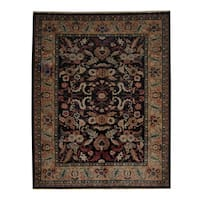 Herat Oriental Afghan Hand-knotted Oushak Wool Rug (6'7 x 8'3) - 6'7 x 8'3