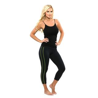 Pro Compression Women's Active Black and Neon Green Active Legging