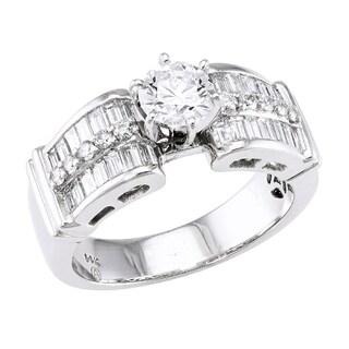 Beverly Hills Charm 14k White Gold 1 2/3ct TDW Diamond Engagement Ring