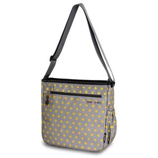 JWorld New York Candy Buttons Tori Tablet Messenger Bag