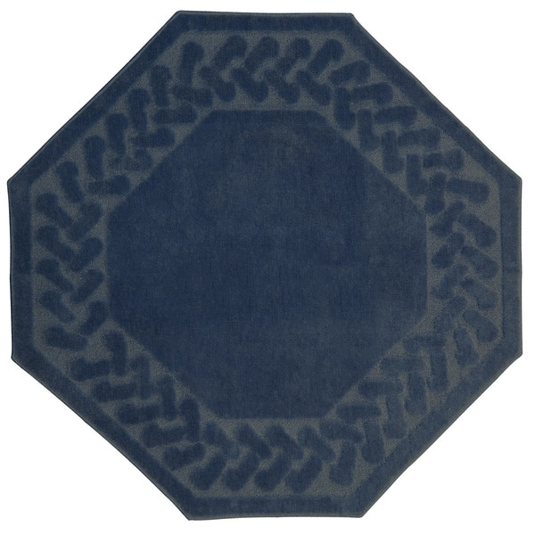 Herringbone Collection Octagon Rug 6 X 6 Free