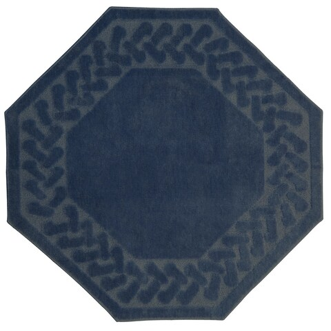 Herringbone Collection Octagon Rug (6'x6') - 6' x 6'