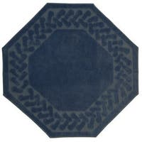Herringbone Collection Octagon Rug (6' x 6')
