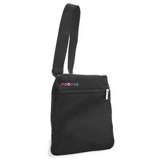 J World New York Black Posh Tablet Crossbody Messenger Bag
