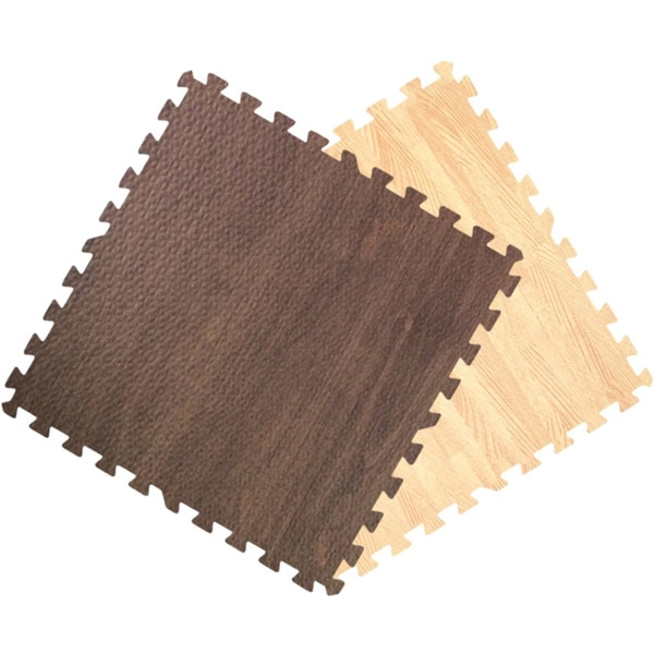 Wood Floor Padding Wood Foam Floor: Shop Get Rung Wood Grain Interlocking Foam Puzzle Tile