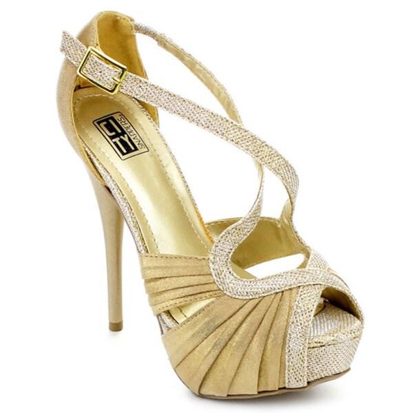 Shop City Snappers Women s Sparkly Rhinestone-detail Platform Heels ... c3da26c2fb0d