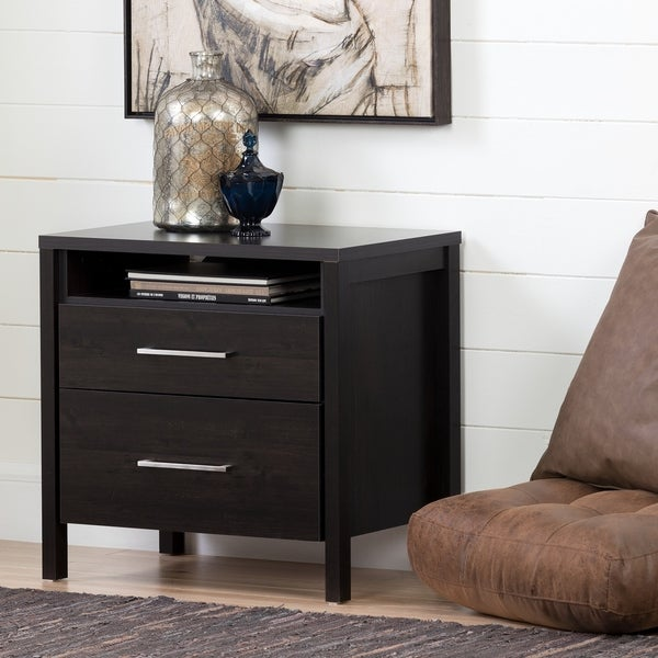 Shop South Shore Gravity 2 Drawer Nightstand   Free Shipping Today