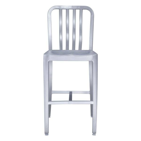 Gastro Brushed Aluminum Counter Chair