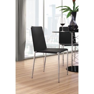 Alex Chromed Steel and Leatherette Dining Chair (Set of 4)