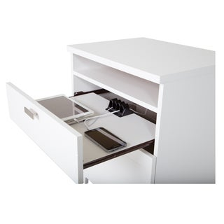 South Shore Reevo Night Stand with Drawers and Cord Catcher