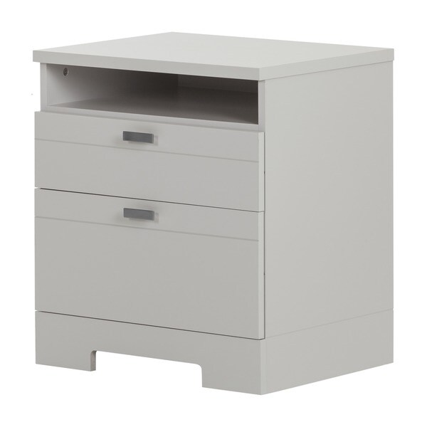 south shore reevo night stand with drawers and cord catcher free shipping today