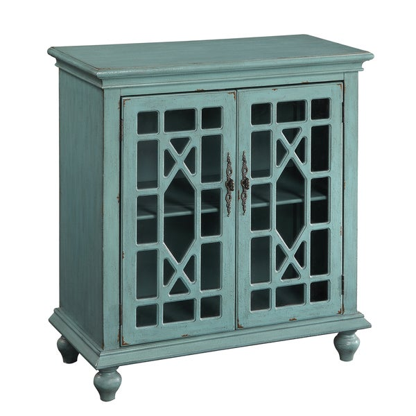 Shop Christopher Knight Home Bayberry Blue Two Door Cabinet Free