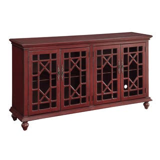 Christopher Knight Home Texture Red Four-door Media Credenza|https://ak1.ostkcdn.com/images/products/10092585/P17234342.jpg?impolicy=medium