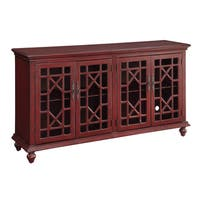 Christopher Knight Home Texture Red Four-door Media Credenza