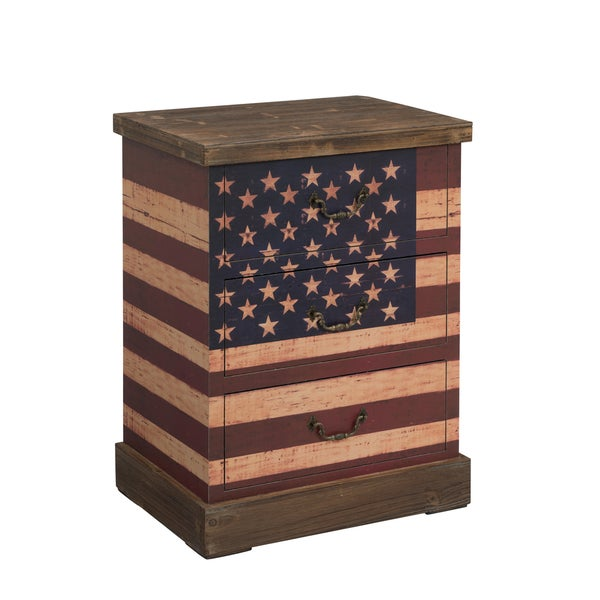 Christopher Knight Home Rustic Flag Three-drawer Chest