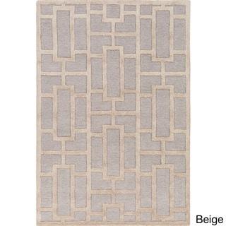 Hand-tufted Thaxted Geometric Wool Rug (4' x 6')