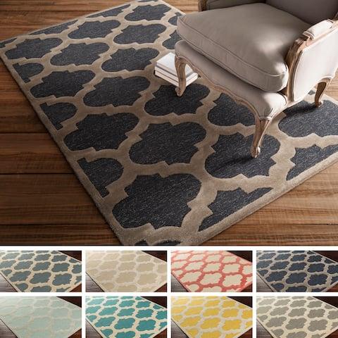 Porch & Den Henderson Hand-tufted Moroccan Trellis Wool Rug