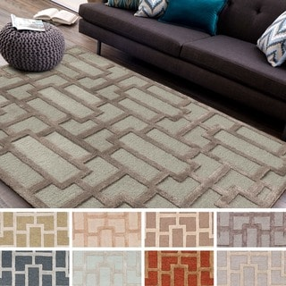 Hand-tufted Thaxted Geometric Wool Rug