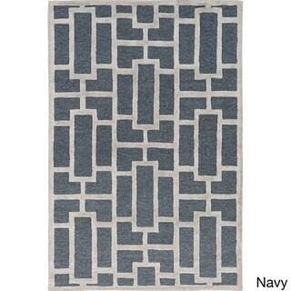 Hand-tufted Thaxted Geometric Wool Rug (7'6 x 9'6)