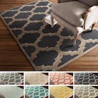 Porch & Den Henderson Hand-tufted Moroccan Trellis Wool Area Rug - 7'6 x 9'6
