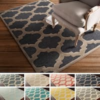Clay Alder Home Martin Hand-tufted Moroccan Trellis Wool Area Rug - 8' x 11'