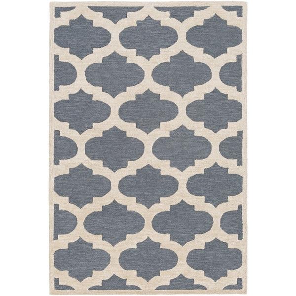 Shop Hand-tufted Tetbury Moroccan Trellis Wool Rug (9' x 13