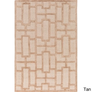 Hand-tufted Thaxted Geometric Wool Rug (9' x 13')