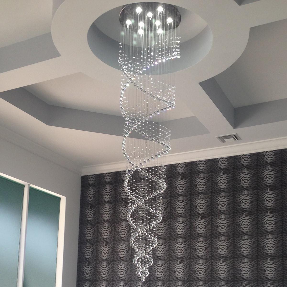 Celestina crystal suspension spiral chandelier ebay celestina crystal suspension spiral chandelier aloadofball Images