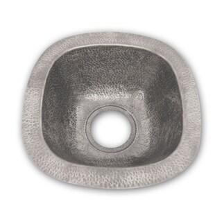 Houzer Hammerwerks Series Undermount Copper Single Bowl Bar/Prep Sink, Pewter HW-SCH2BF