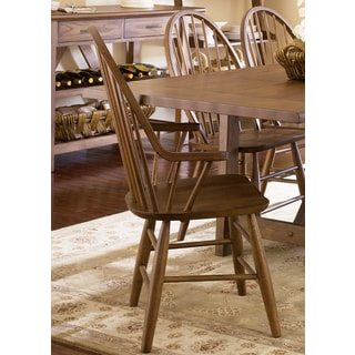 Farmhouse Weathered Oak Windsor Arm Chair