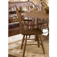 Havenside Home Franklintown Weathered Oak Windsor Dining Chair with Arm Rests