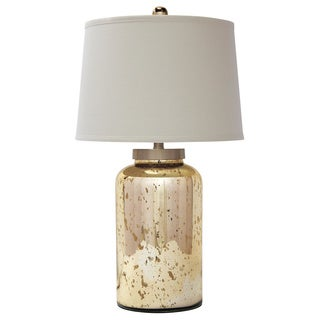 Signature Design by Ashley Shannin Gold Glass Table Lamp
