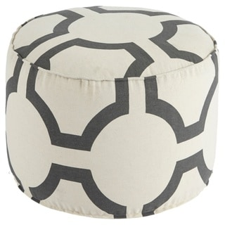 Signature Design by Ashley Geometric Charcoal Pouf