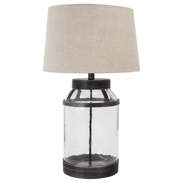 Signature Design by Ashley Shanika Transparent Glass Table Lamp
