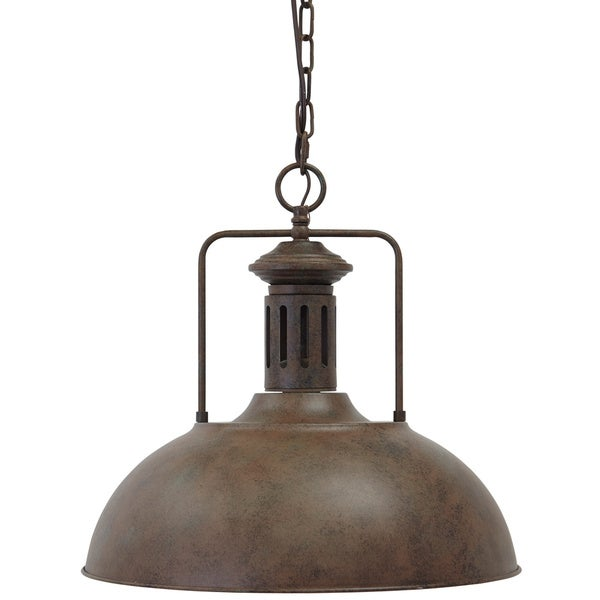 Signature design by ashley famke antique brown metal pendant light signature design by ashley famke antique brown metal pendant light mozeypictures Image collections