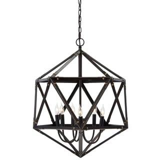 Signature Design by Ashley Fadri Bronze Metal 6-light Pendant