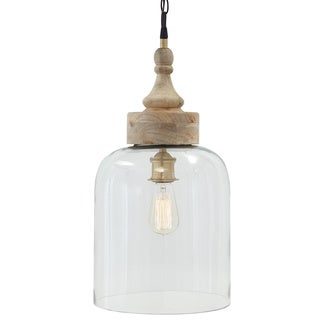 Faiz Transparent Glass 10 Inch Wide Pendant Light