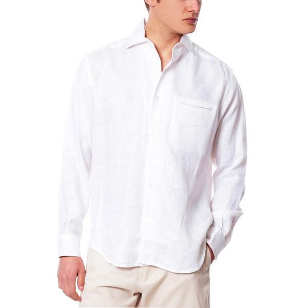Linen Shirts Men 36