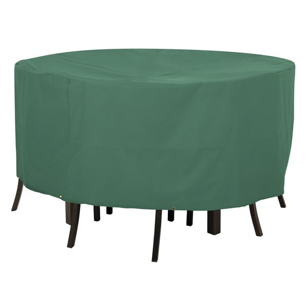 Classic Accessories Atrium Green Round Patio Table and Chair Cover Fr