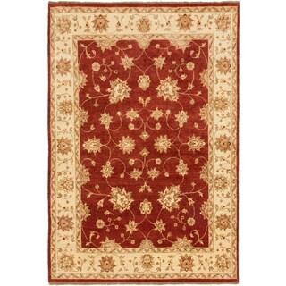 Ecarpetgallery Royal Ushak Dark Orange-red Wool Open Field Rectangular Rug (5'6 x 8'3)