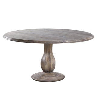 Turned Pedestal Mango Wood Table