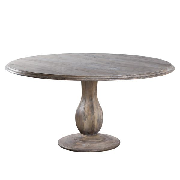 Handmade Turned Pedestal Mango Wood Table India