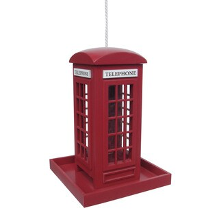 London Red Telephone Booth Bird Feeder