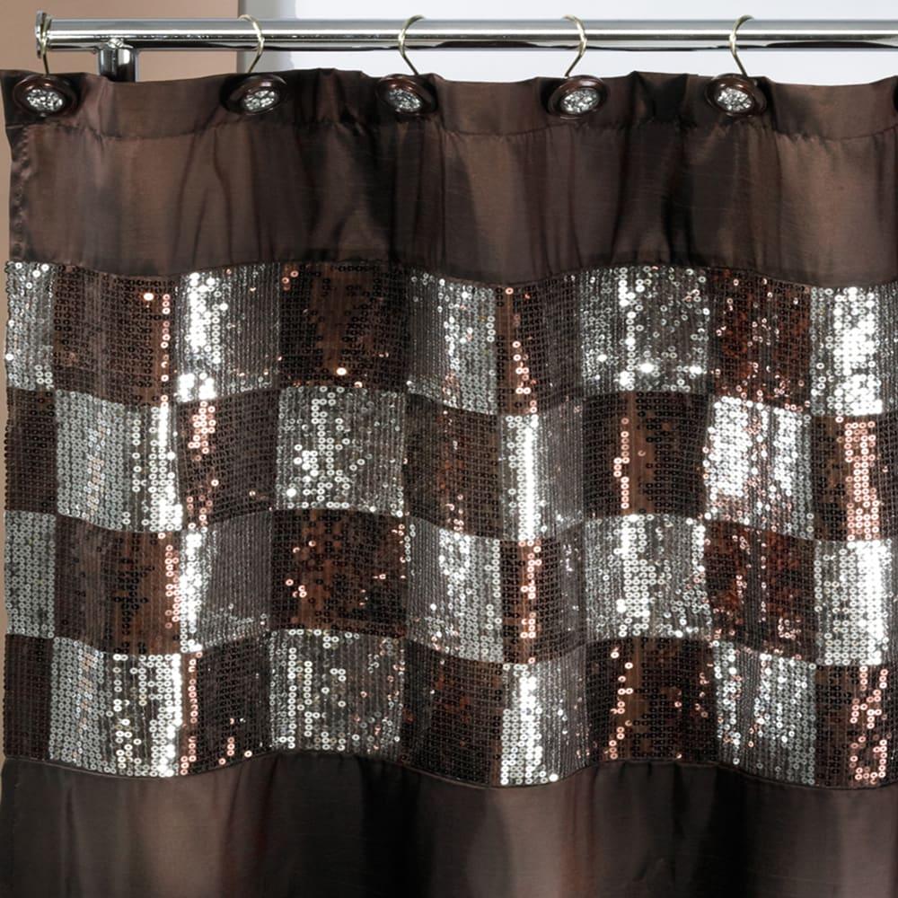 Shop Elegant Shower Curtain and Hooks   On Sale   Overstock   10094213