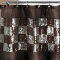 Elegant Shower Curtain and Hooks