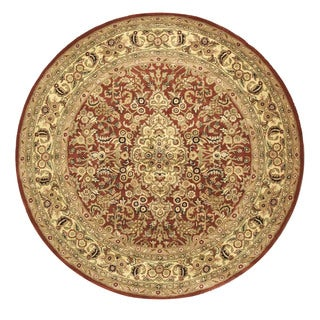 EORC Hand-tufted Cotton Rust Rust Simba Rug (7'9 Round)