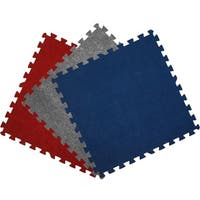 Get Rung Carpet Topped Interlocking Foam Puzzle Mat Flooring Tiles