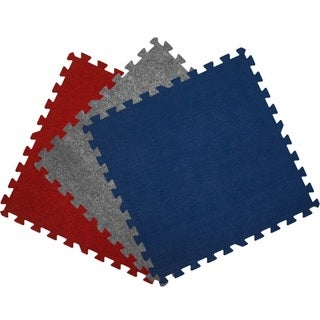 Get Rung Carpet Topped Interlocking Foam Puzzle Mat Flooring Tiles