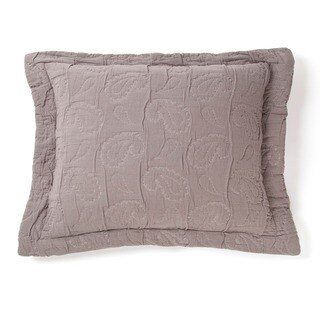 Dana Grey Cotton Paisley Sham (3 options available)