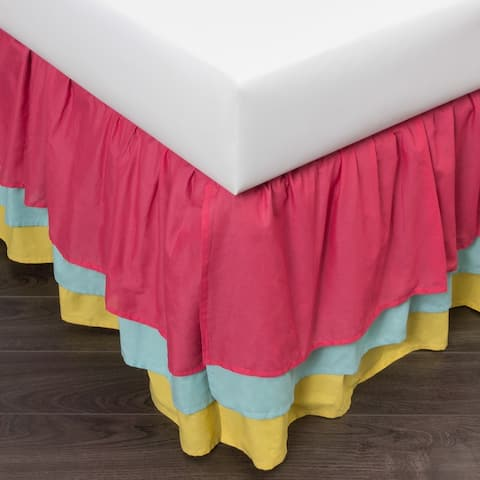 Trois 3-layer 18-inch Drop 3 Piece Tuck In Bed Skirt